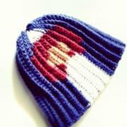 Colorado flag crochet beanie hat