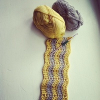 I LOVE this Cotton-ish yarn by Vickie Howell